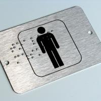 Oznaczenia toalet pismem brajla